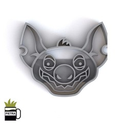 cults11.jpg Download STL file HYENA FONDANT COOKIE CUTTER • Model to 3D print, Gustavo015