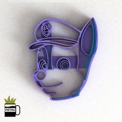 CULTS2.jpg Download STL file PAW PATROL CHASE FONDANT COOKIE CUTTER • Design to 3D print, Gustavo015