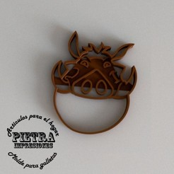 Download 3D printing files PUMBA CUTTING MOULD FOR FONDANT EL REY LEON BISCUITS, Gustavo015