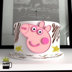 Download STL CUTTING MOULD FOR CAKES FONDANT CAKES MADE OF PEPPA PIG PRINTING MODEL 3D, Gustavo015