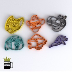 cults1.jpg Download STL file LION GUARD FONDANT COOKIE CUTTER MODEL 3D PRINT • 3D printer model, Gustavo015