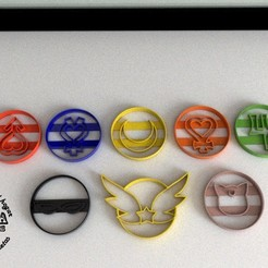 3d printer designs Sailor Moon Cookies Cutting Mould, Gustavo015