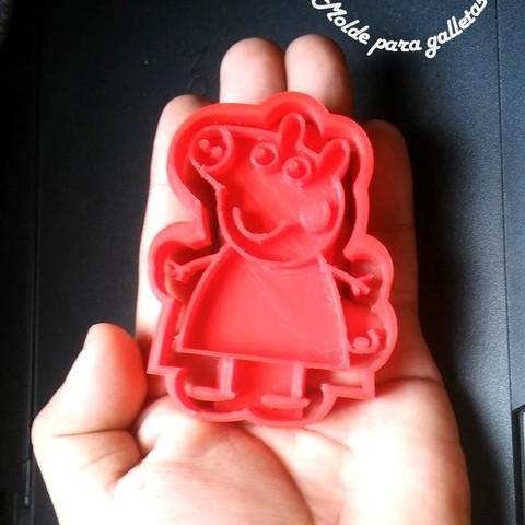 3.jpg Download STL file Peppa Pig Family Cookie Cutter • 3D printer model, Gustavo015