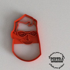 Download 3D printer designs Cutting Mould For Fondant Biscuits The Incredibles -MISTER INCREIBLE, Gustavo015