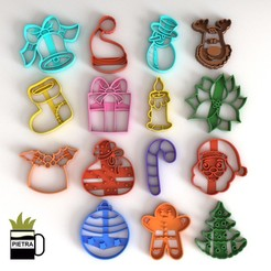 Download 3D printer files CUTTING MOULD FOR FONDANT CHRISTMAS BISCUITS, Gustavo015
