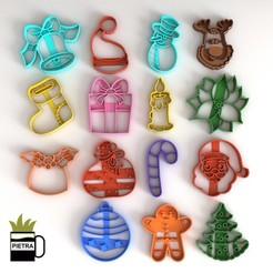 2.jpg Télécharger fichier STL MOULE A BISCUIT DE NOEL FONDANT • Design à imprimer en 3D, Gustavo015