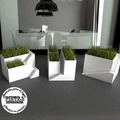 STL file Indoor pots, Gustavo015