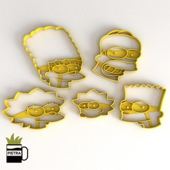 Download 3D printer model FONDANT THE SIMPSONS COOKIE CUTTER, Gustavo015