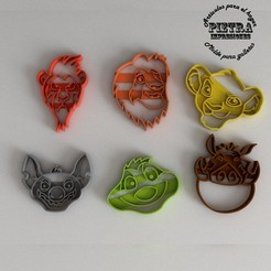 Download 3D printing designs CUTTING MOULD FOR FONDANT EL REY LEON BISCUITS, Gustavo015