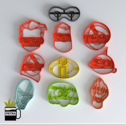 cults 1.jpg Download STL file FONDANT COOKIE CUTTER THE INCREDIBLE 2 • 3D printer template, Gustavo015
