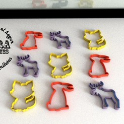 Download 3D printing templates CUTTING MOULD FOR ANIMAL BISCUITS, Gustavo015
