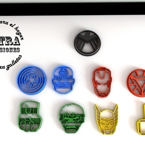 Download 3D printing templates Avengers Cookie Cutter, Gustavo015