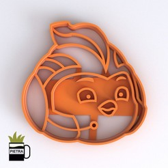 Download 3D printer model TOP WING SWIFT FONDANT COOKIE CUTTER IMPRESSION MODEL, Gustavo015