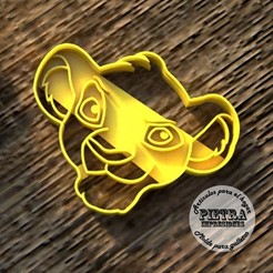 Download 3D print files CUTTING MOULD FOR BISCUITS EL REY LEON (SIMBA), Gustavo015