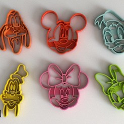 Download STL file FONDANT MICKY MOUSE DISNEY COOKIE CUTTER • Design to 3D print, Gustavo015