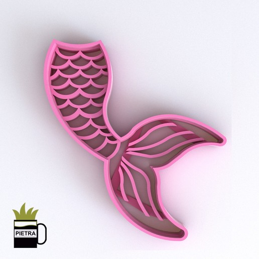 Download 3D printing templates MERMAID GLUE FONDANT COOKIE CUTTER MODEL 3D PRINT, Gustavo015