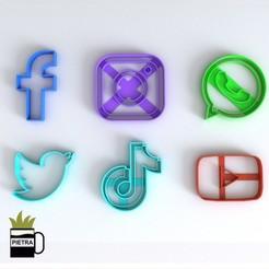 cults 2.jpg Télécharger fichier STL RÉSEAU SOCIAL MOULE À BISCUIT FONDANT MODÈLE 3D PRINT • Plan pour imprimante 3D, Gustavo015