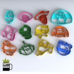 23.jpg Download STL file TOY STORY 4 FONDANT COOKIE CUTTER • 3D printer object, Gustavo015