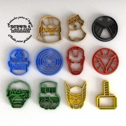 Download 3D printing files CUTTING MOULD FOR AVENGERS END GAME BISCUITS, Gustavo015