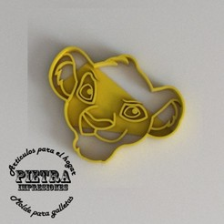 Download 3D print files SIMBA CUTTING MOULD FOR BISCUITS FONDANT EL REY LEON CUTTING MOULD FOR BISCUITS FONDANT EL REY LEON, Gustavo015