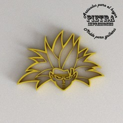 3D printing model CUTTING MOULD FOR FONDANT DRAGON BALL GOKU GOKU SSJ3 BISCUITS, Gustavo015
