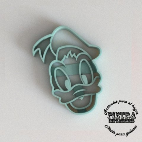 Download 3D print files CUTTING MOULD FOR FONDANT DONALD DISNEY BISCUITS, Gustavo015