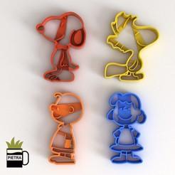9.jpg Télécharger fichier STL MOLDE CORTANTE DE GALLETAS FONDANT DE SNOOPY MODELO DE IMPRESIÓN 3D • Objet à imprimer en 3D, Gustavo015