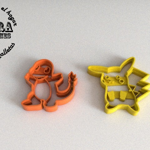 9.jpg Download STL file Pokémon Cake Cutter • Object to 3D print, Gustavo015