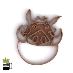 cults10.jpg Download STL file PUMBA CUTTERS FOR FONDANT BISCUITS • 3D printing model, Gustavo015
