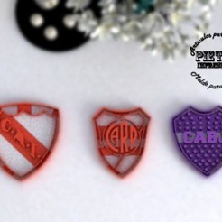 escudos.jpg Download STL file Argentine Football Cookie Cutter 4 units • 3D printing template, Gustavo015