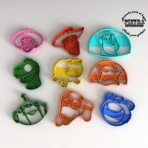 Download STL file TOY TOY STORY 3 FONDANT COOKIE CUTTER MOLD, Gustavo015