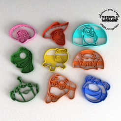 3D printing model TOY TOY STORY 3 FONDANT COOKIE CUTTER MOLD, Gustavo015