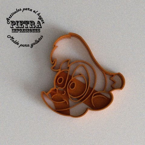 STL files CUTTING MOULD FOR FONDANT ALADDIN (ABU) DISNEY BISCUITS, Gustavo015