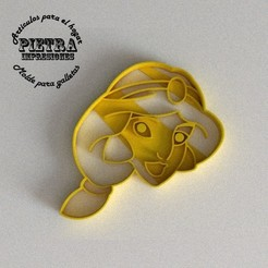 jasmin.jpg Download STL file JASMINE DISNEY FONDANT COOKIE CUTTER • 3D printing model, Gustavo015