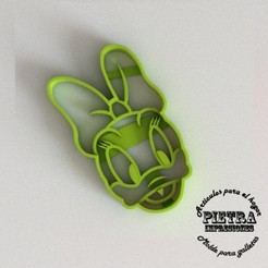 3D printer files CUTTING MOULD FOR FONDANT DAYSI DISNEY BISCUITS, Gustavo015
