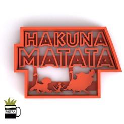 cults13.jpg Télécharger fichier STL LOGO HAKUNA MATATA MOULE À BISCUIT FONDANT • Modèle à imprimer en 3D, Gustavo015