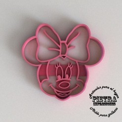 3D print model CUTTING MOULD FOR FONDANT MINIE MOUSE DISNEY BISCUITS, Gustavo015