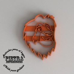 Download 3D model MUFASA CUTTING MOULD FOR FONDANT EL REY LEON BISCUITS, Gustavo015