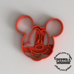 STL files CUTTING MOULD FOR FONDANT BISCUITS MICKY MOUSE DISNEY, Gustavo015