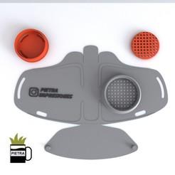 Descargar archivos STL Mascara con filtro tapa rosca tipo N95, Gustavo015