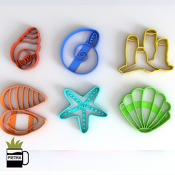 Download 3D model SEA INVERTEBRATE FONDANT COOKIE CUTTER MODEL 3D PRINT, Gustavo015
