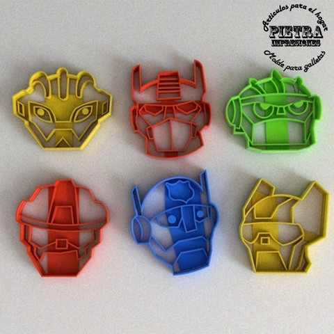 3D printing model CUTTING MOULD FOR FONDANT RESCUEBOTS TRANSFORMERS BISCUITS, Gustavo015