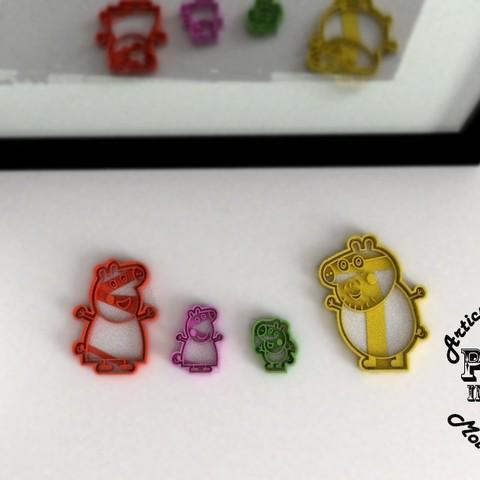 2.jpg Download STL file Peppa Pig Family Cookie Cutter • 3D printer model, Gustavo015