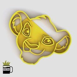 cults8.jpg Download STL file SIMBA FONDANT COOKIE CUTTER MOULD • 3D printing template, Gustavo015