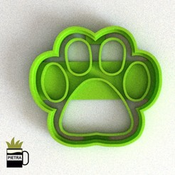CULTS4.jpg Download STL file PAW PATROL FINGERPRINT FONDANT COOKIE CUTTER • 3D printable template, Gustavo015