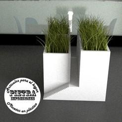 3D printer models Flowerpot for interior 02, Gustavo015