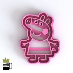 Download 3D model PEPPA PIG MOULD FONDANT COOKIE CUTTERS 3D PRINTING MODEL, Gustavo015