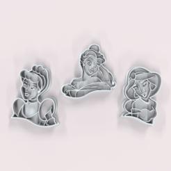 untitled.28.png Télécharger fichier GCODE Disney Princesses : Coupeuse de biscuits • Objet pour imprimante 3D, Trimenta3D