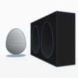Download free 3D printer templates Easter egg mold, graphismeMIH