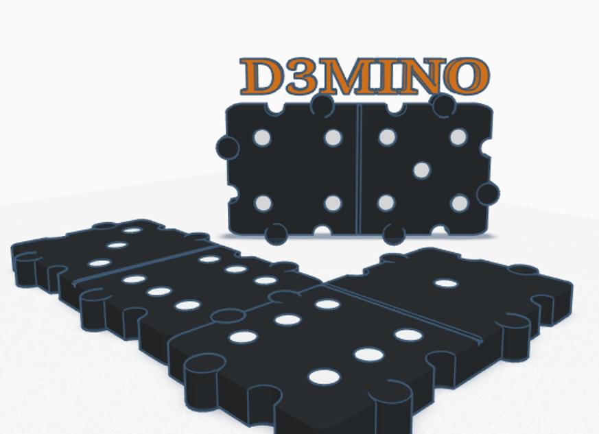 Image.png Download STL file Domino 3D • 3D print design, graphismeMIH